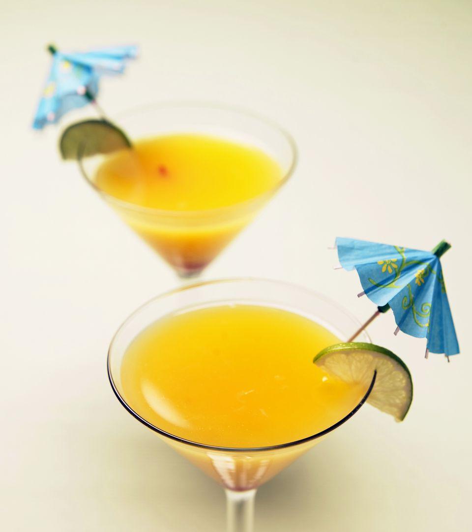 Receta tailandesa de martini con mango