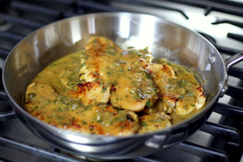 turkey cutlets with lemon and caper sauce