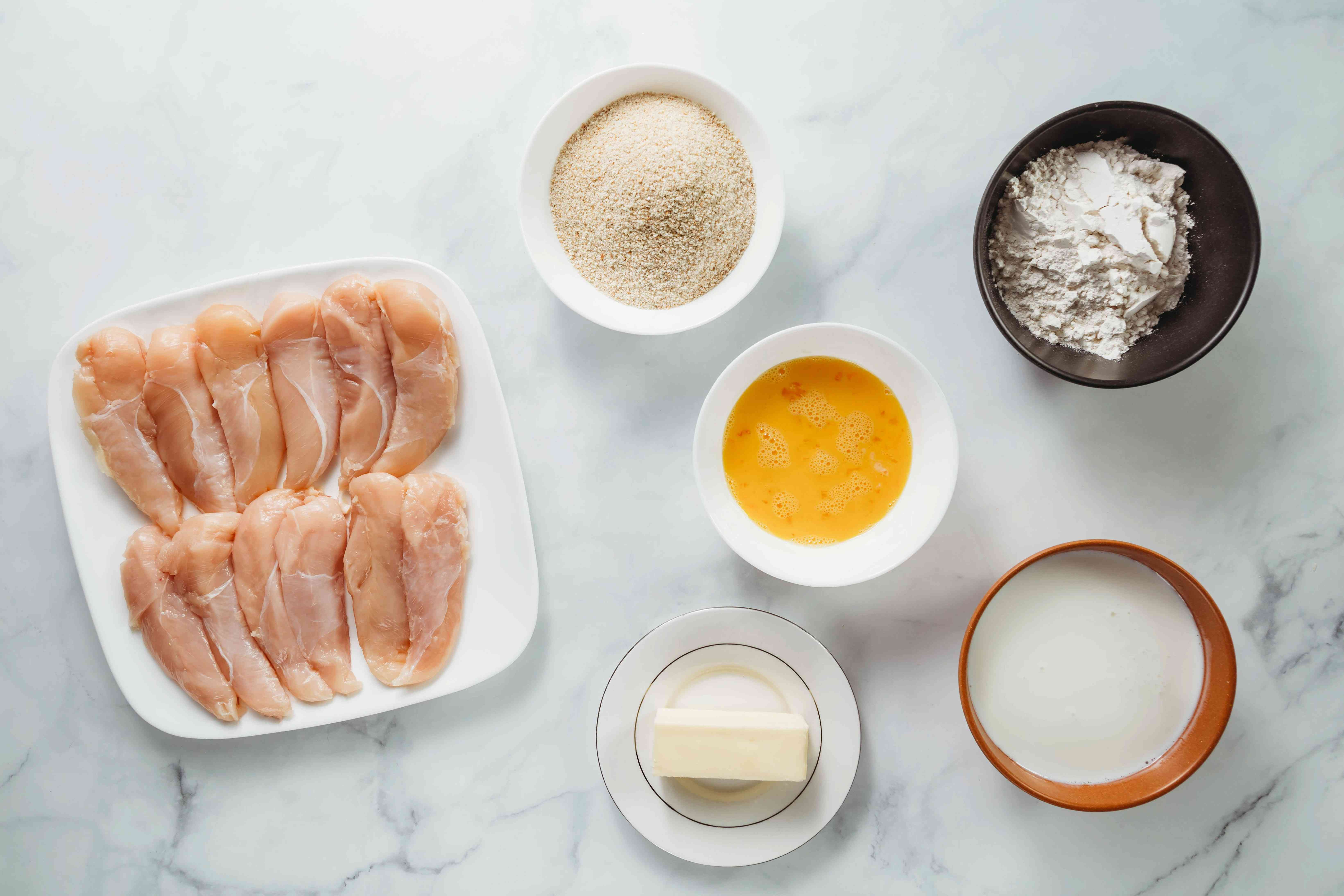 Chicken à la Maryland ingredients