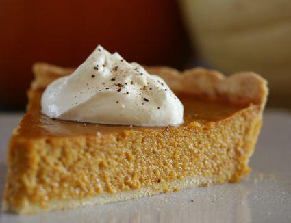 Maple Whipped Cream on Pumpkin Pie