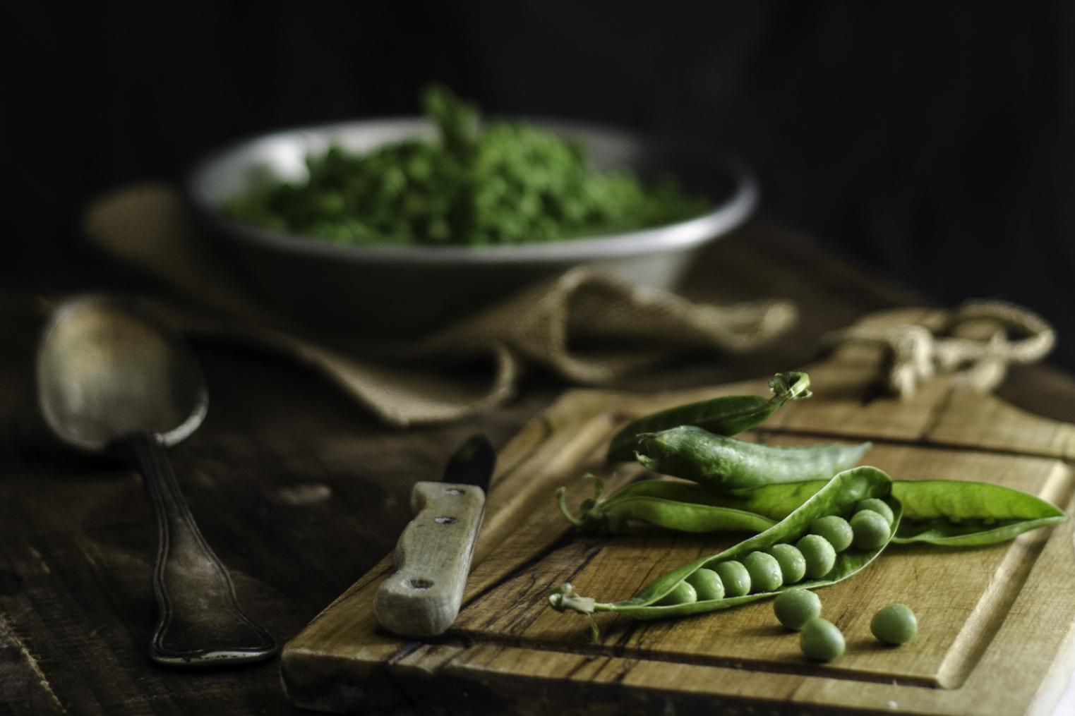 Peas with mint