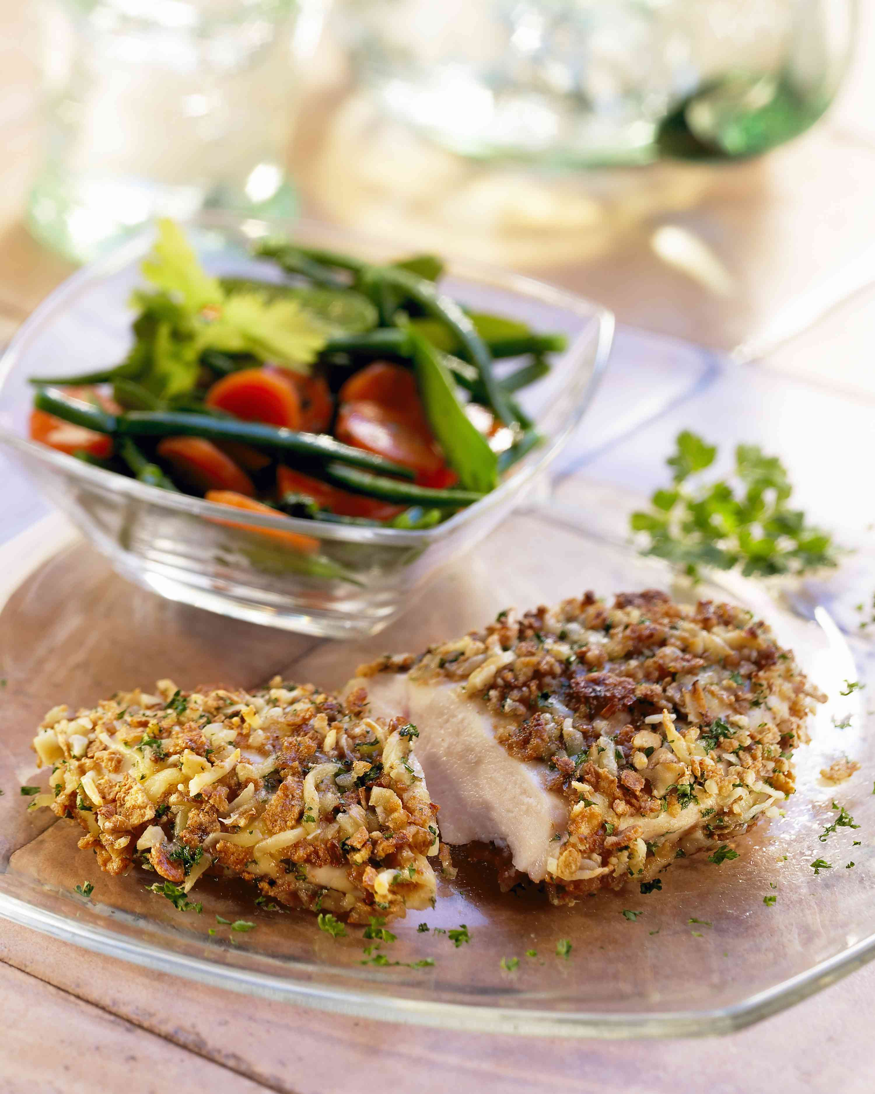 Crispy Ranch Chicken and side salad