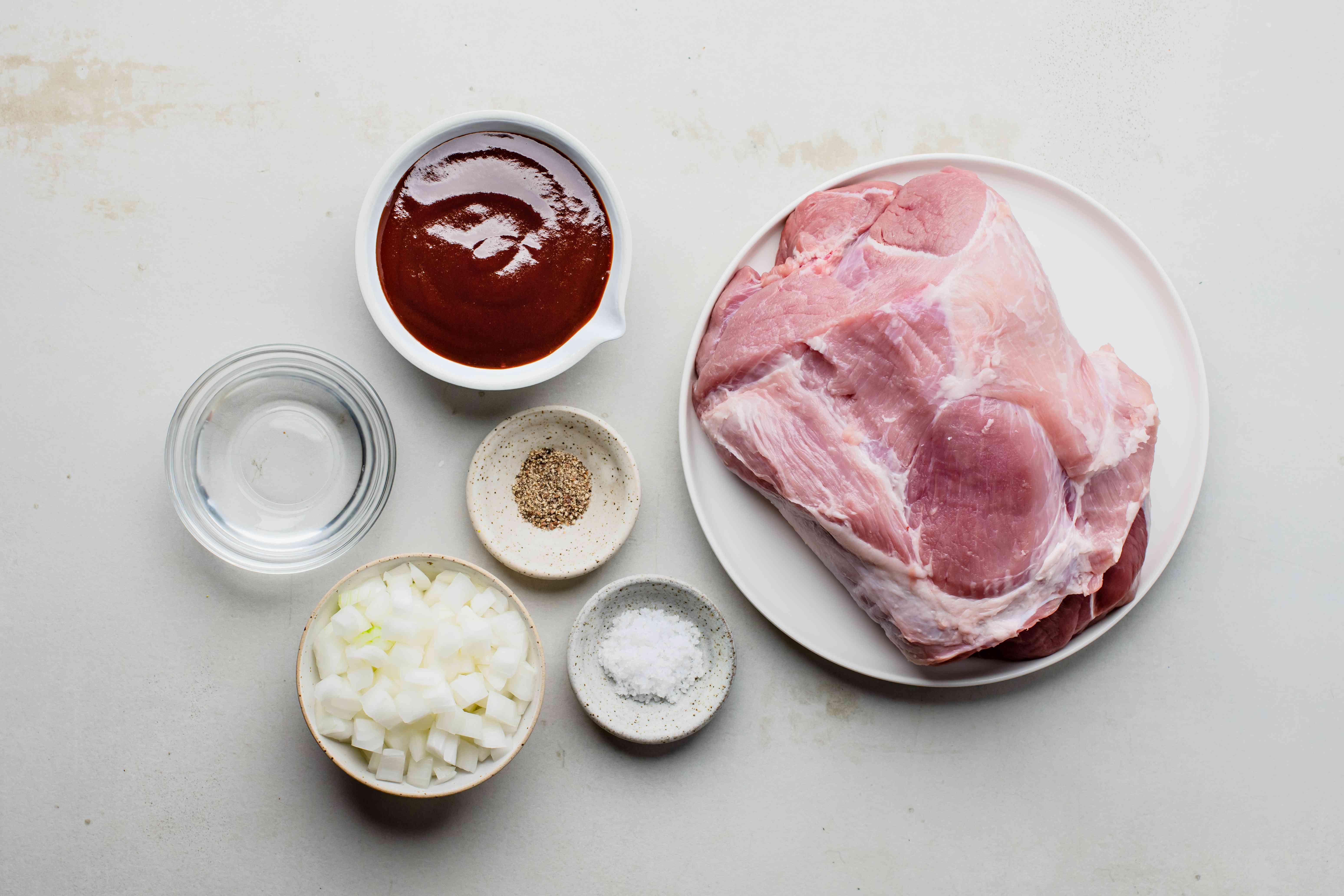 Ingredients for crock pot pork shoulder
