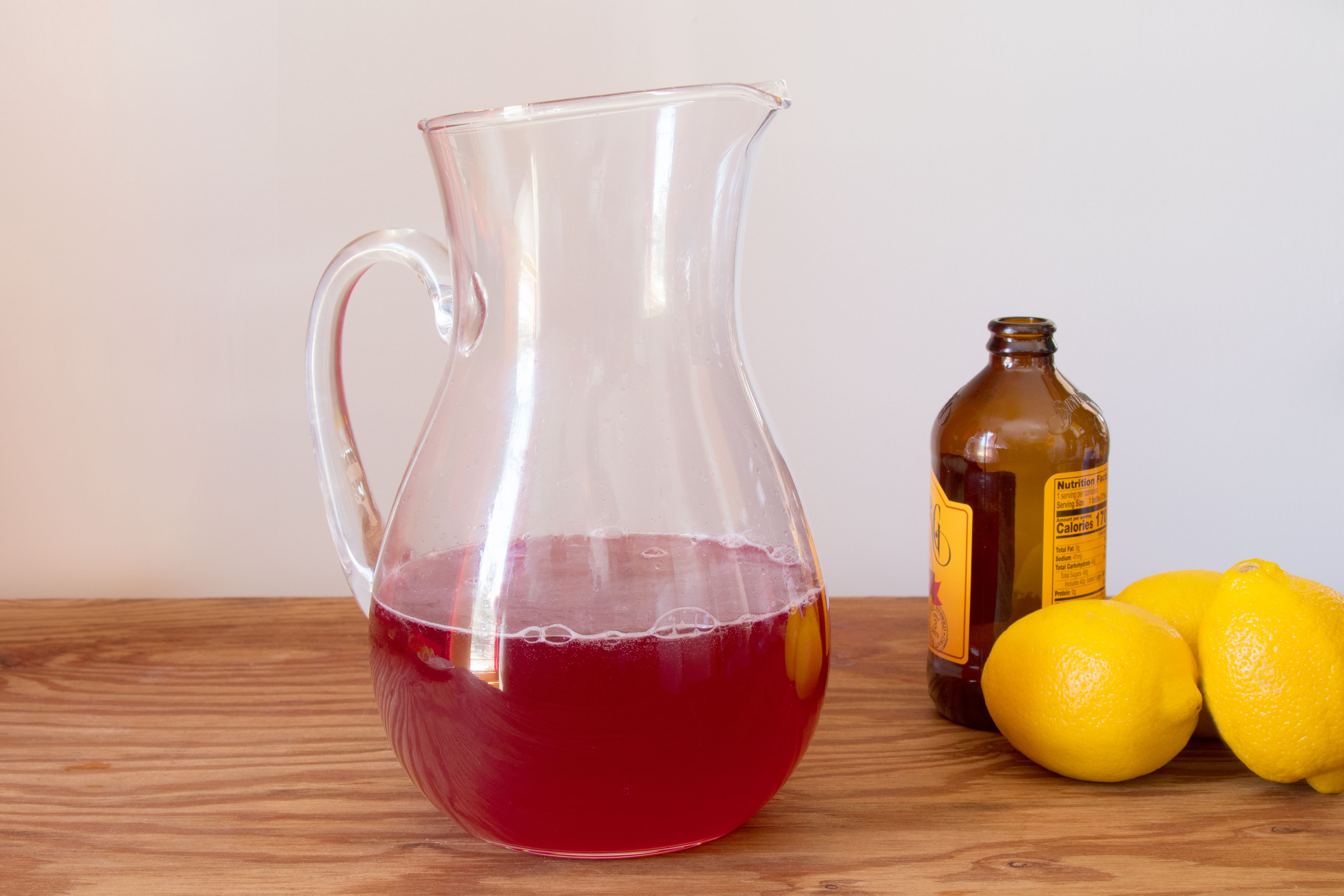 Making a Cranberry Ginger Shandy Punch