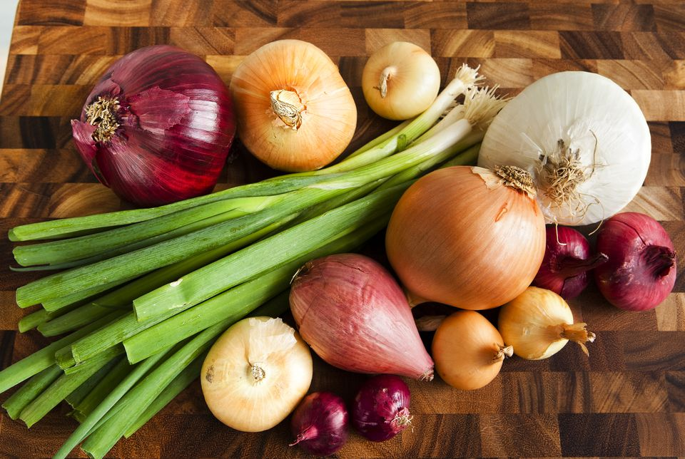 Assortment of different onions