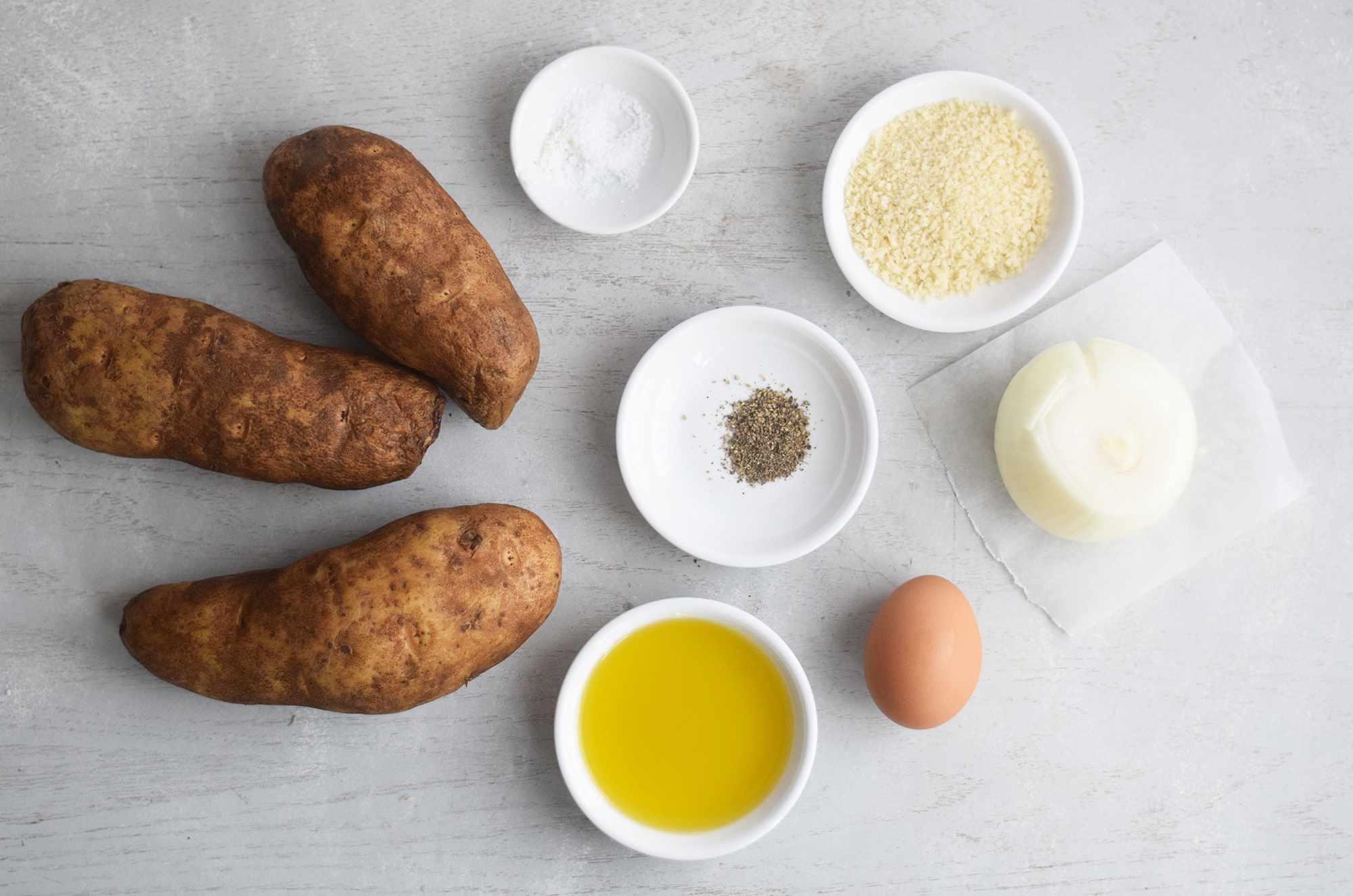 Ingredients for making air fryer latkes