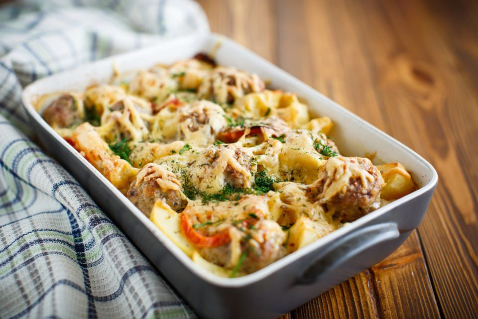 Potato and Meatball Casserole