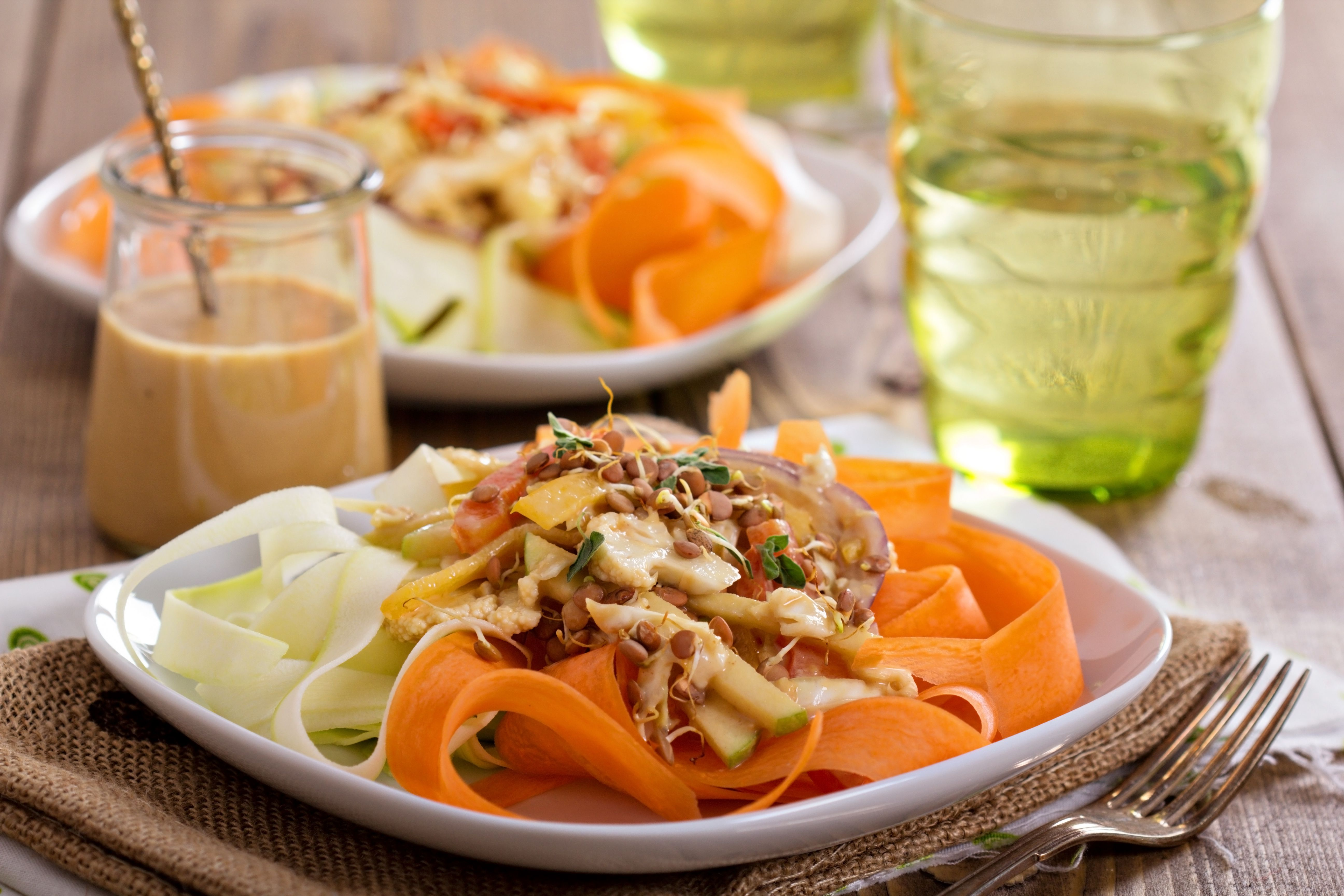 Easy raw vegan pad thai salad recipe forumfinder Image collections