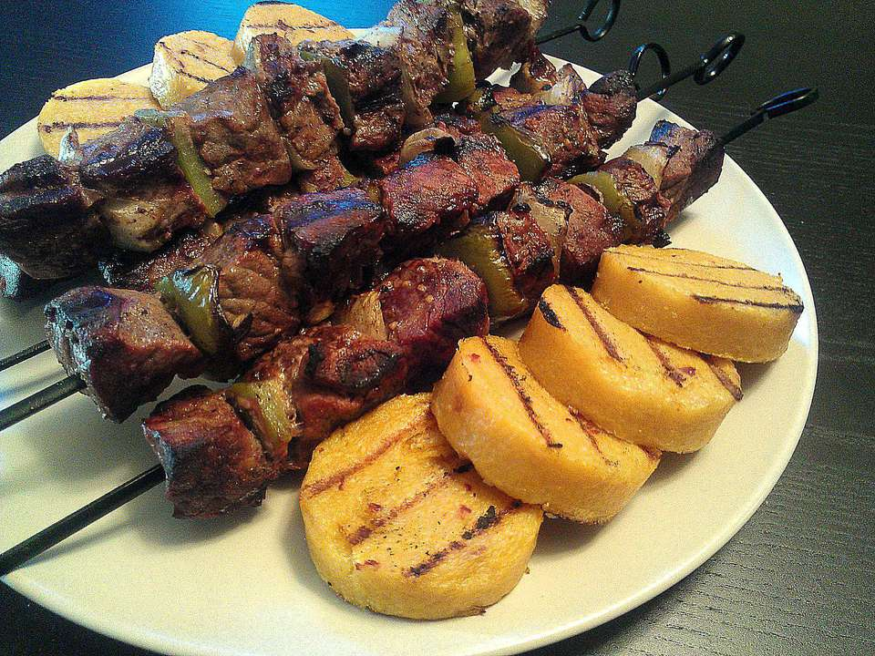 Citrus Vinaigrette Beef Kebabs