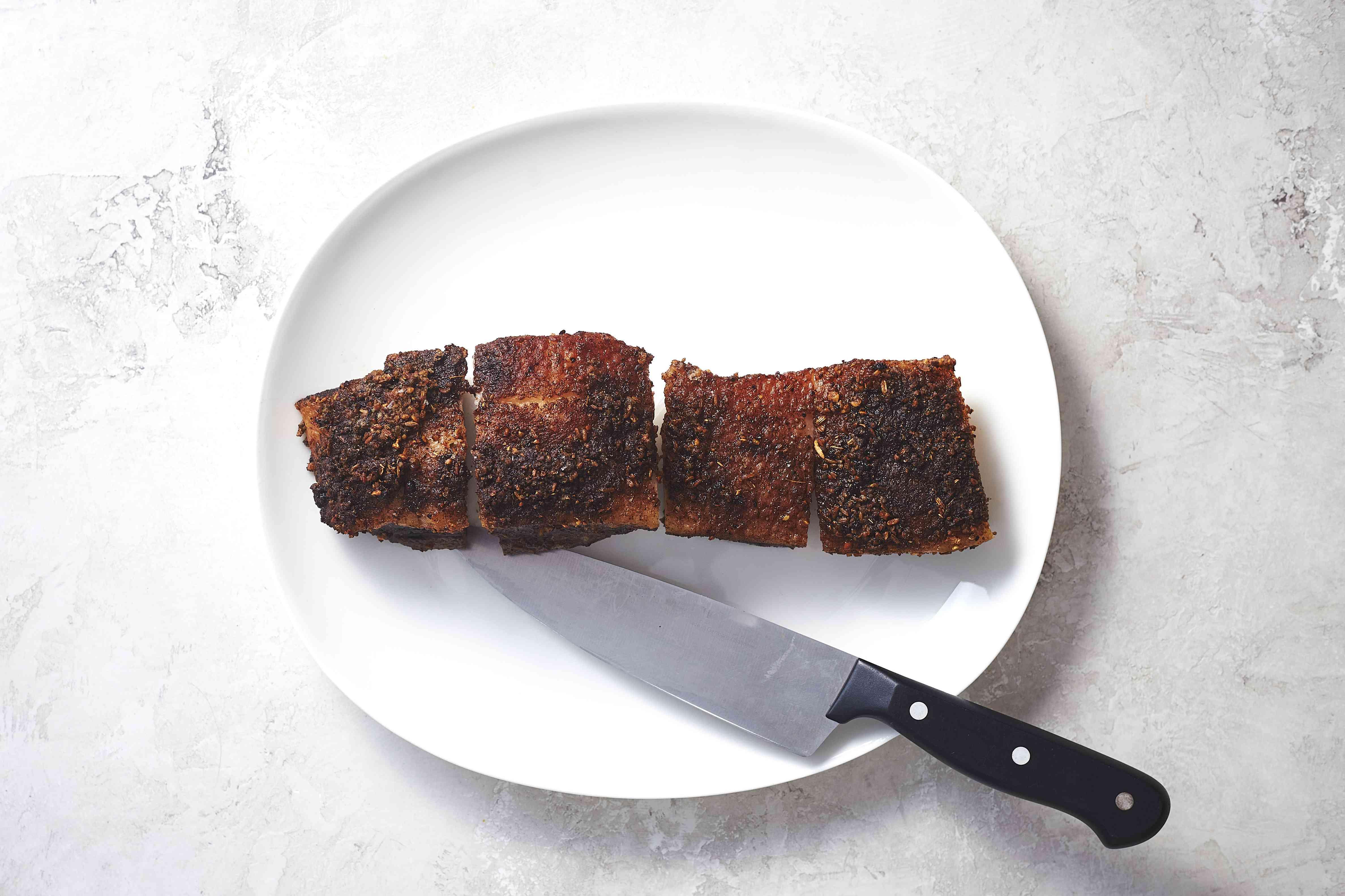 pork belly cut into pieces