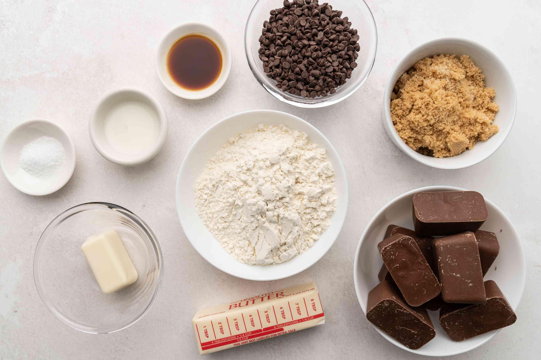Cookie Dough Bark ingredients