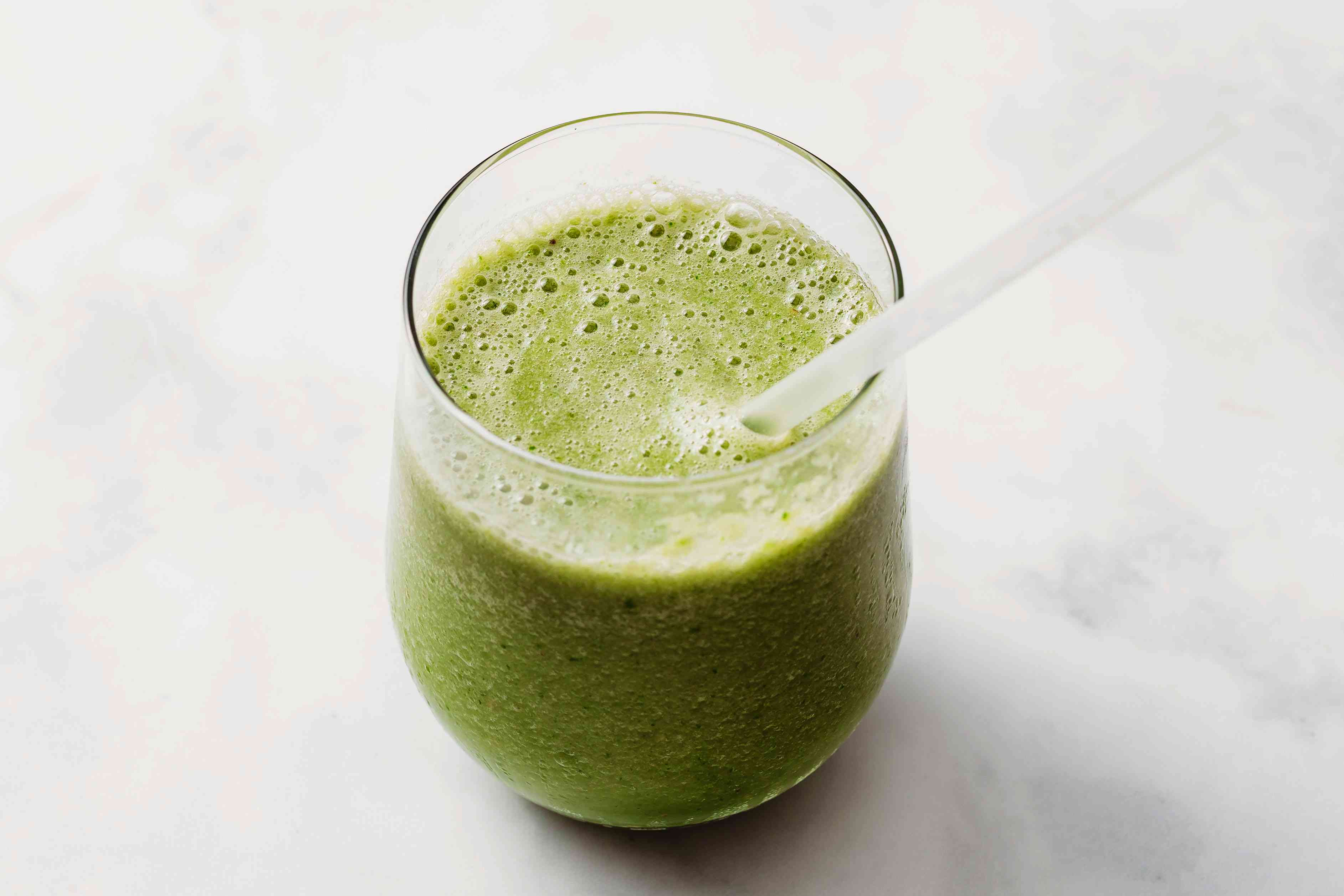 Green Pear Smoothie in a glass