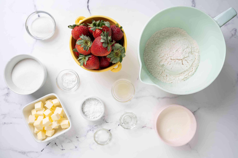 Strawberry Cookies ingredients