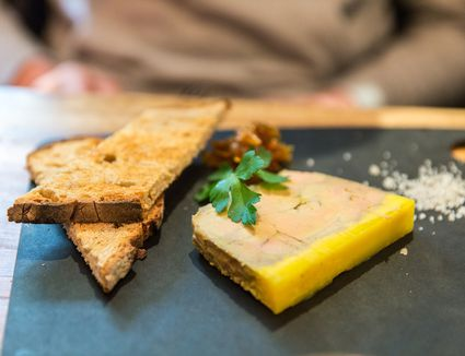 Foie gras terrine and toast