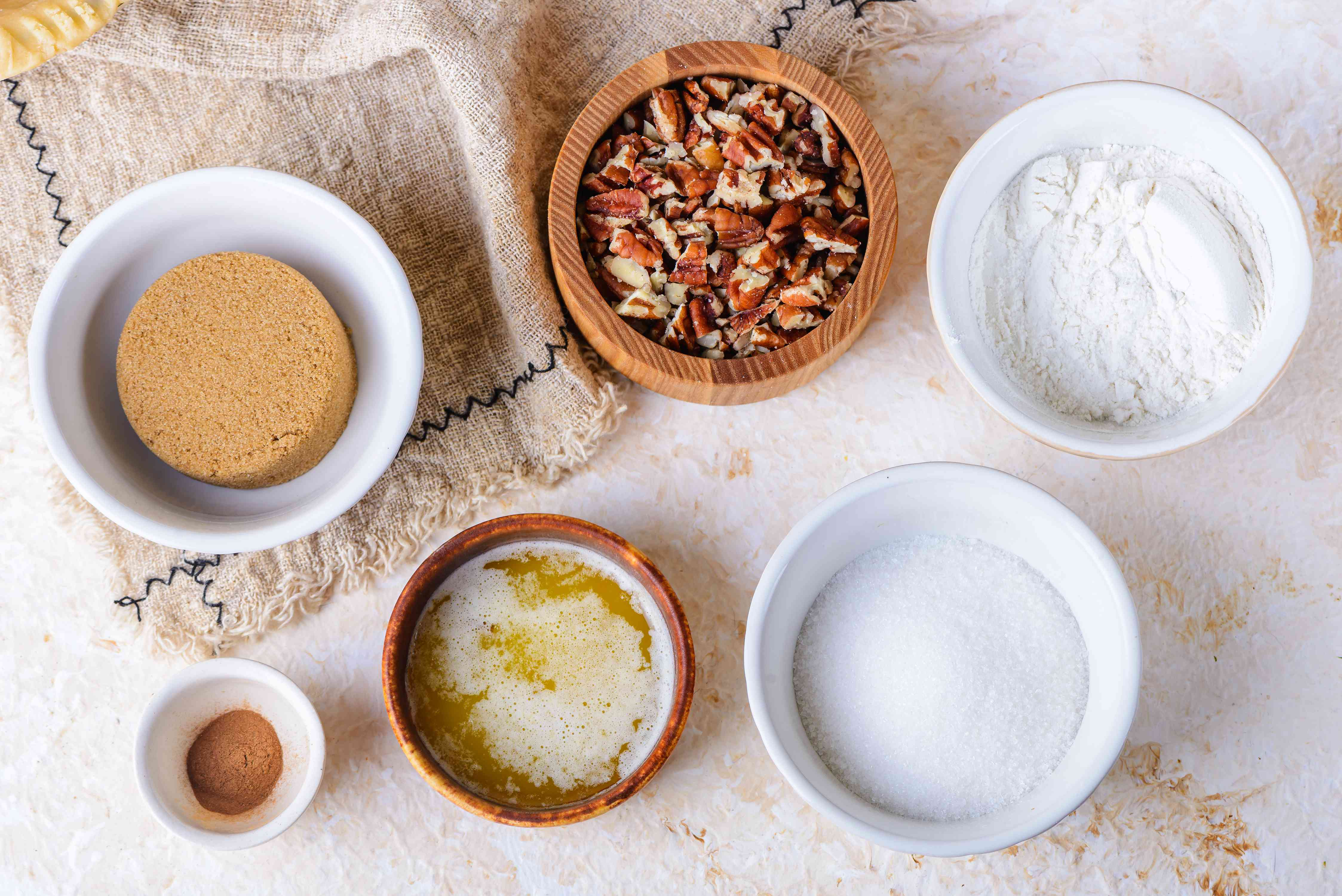 Ingredients for streusel