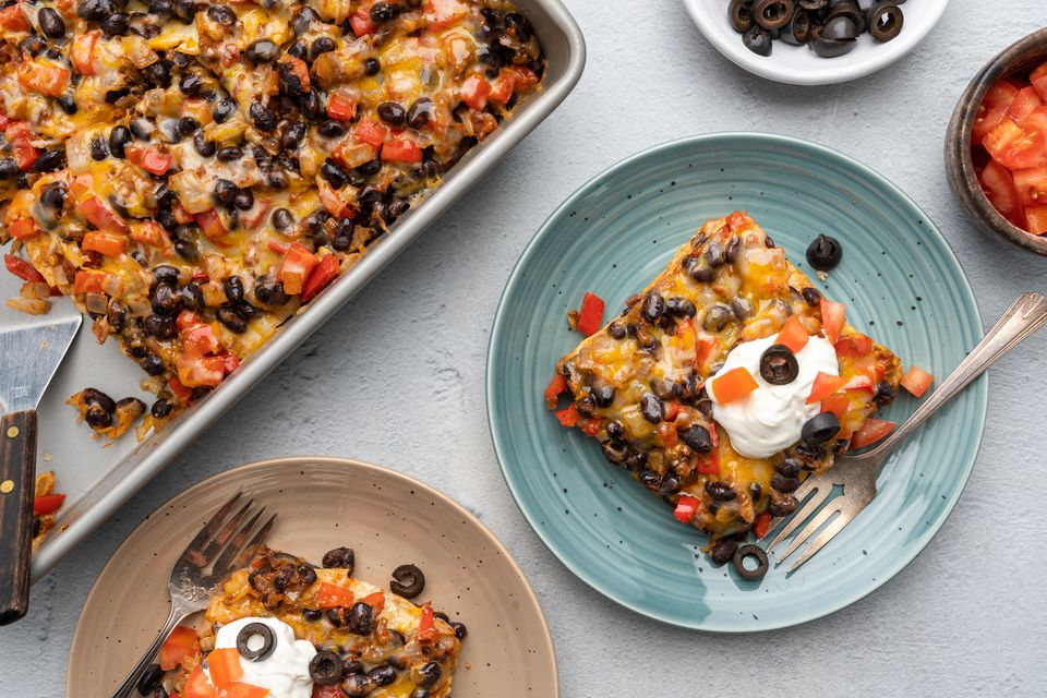 Vegetarian Mexican Casserole With Black Beans