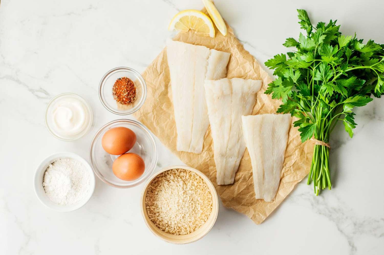 Panko-Crusted Fish Fillet Ingredients