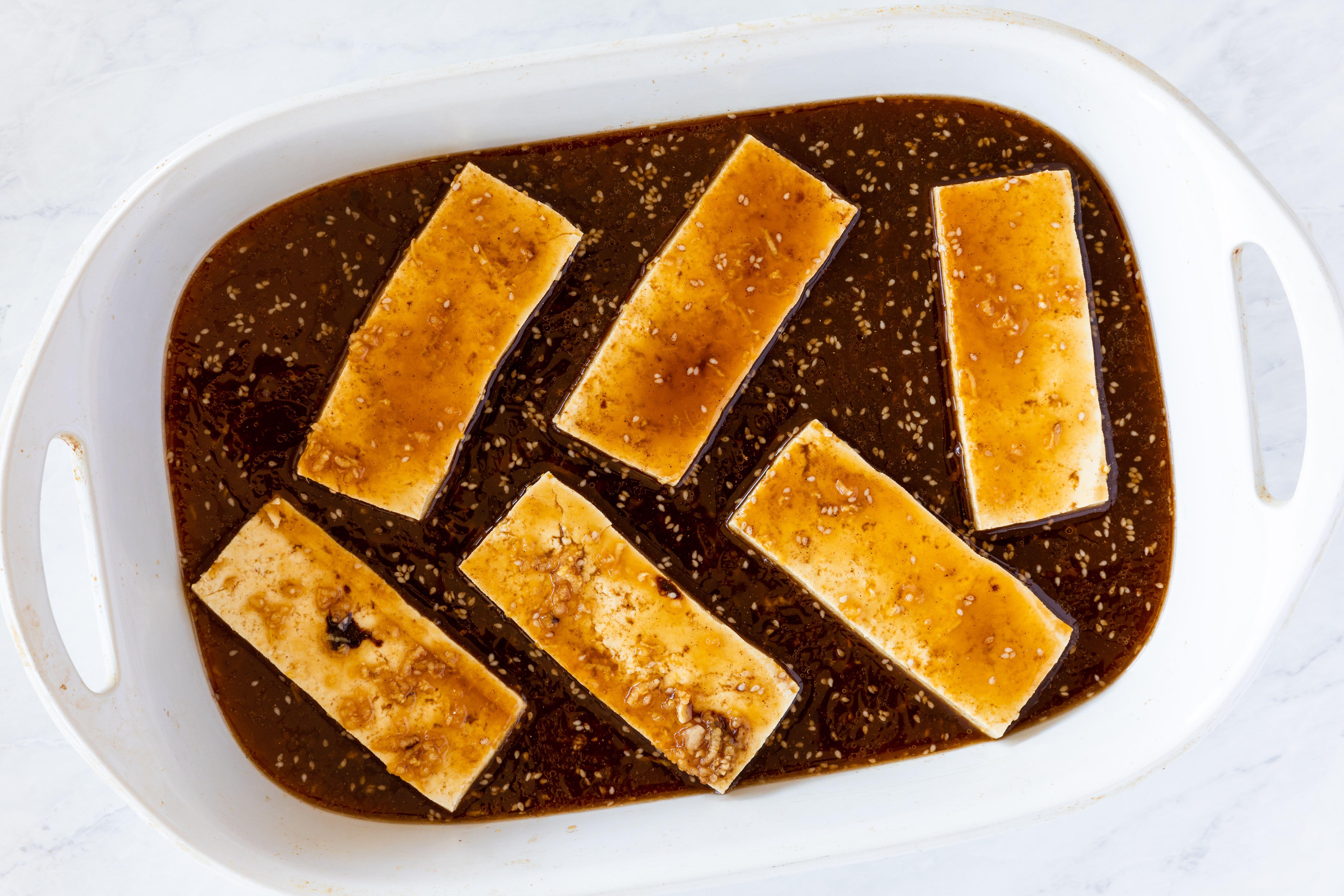 Soak tofu