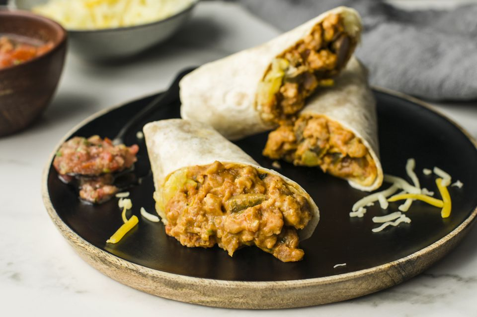 Ground turkey burrito