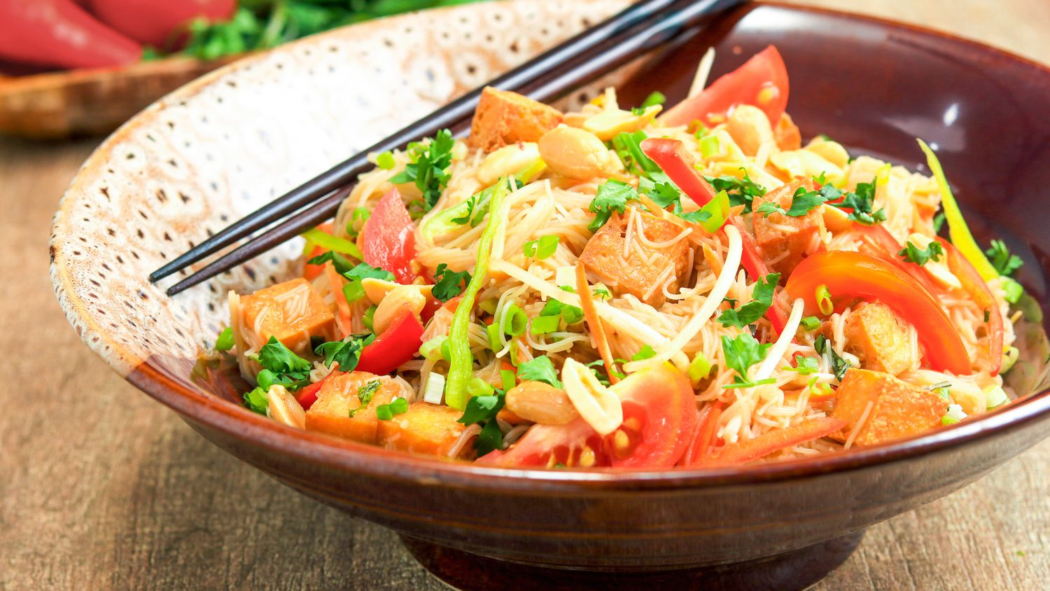 Thai Rice Noodle Salad With Chili-Lime Vinaigrette