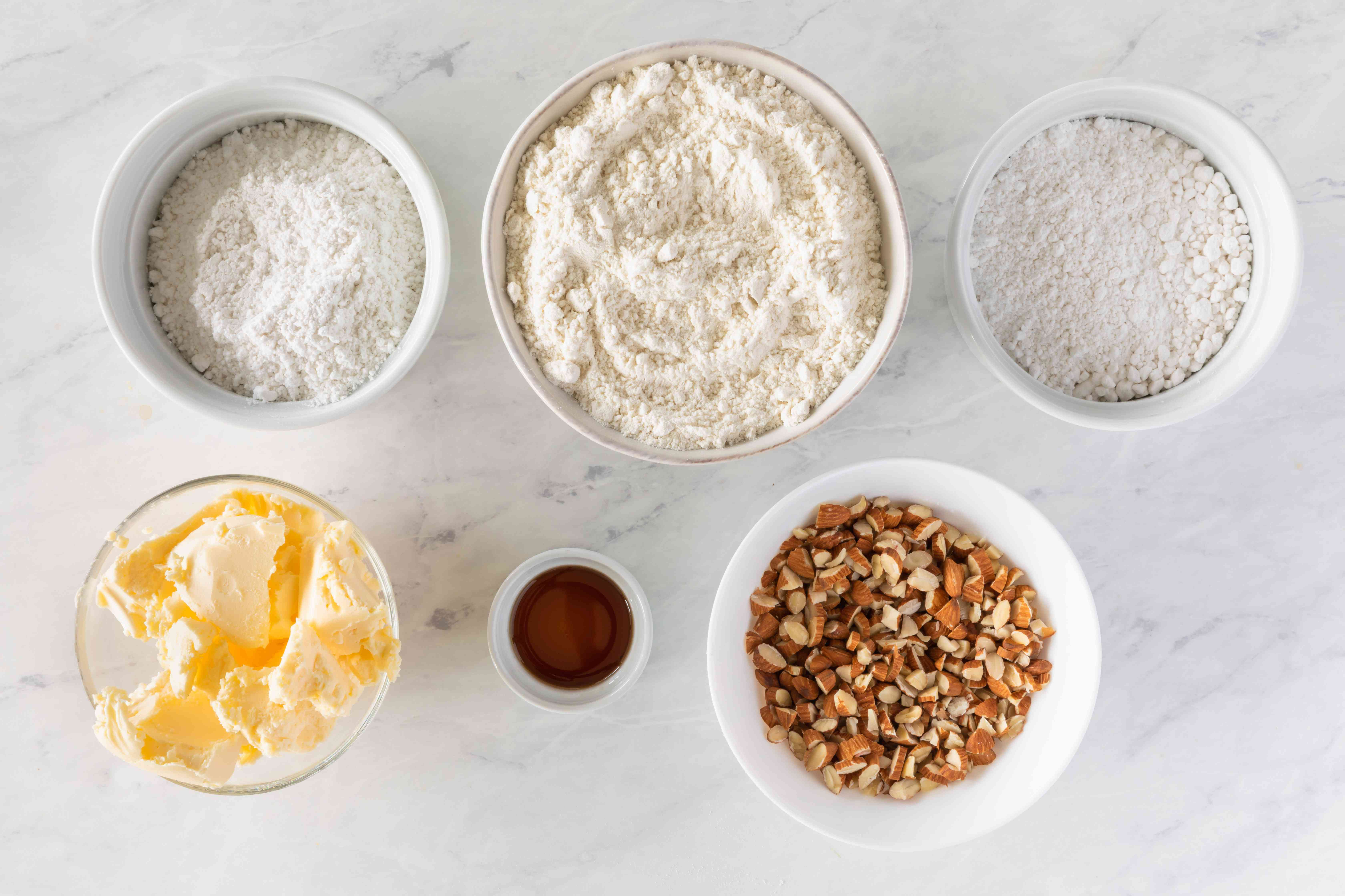 Ingredients for vegan Russian tea cakes