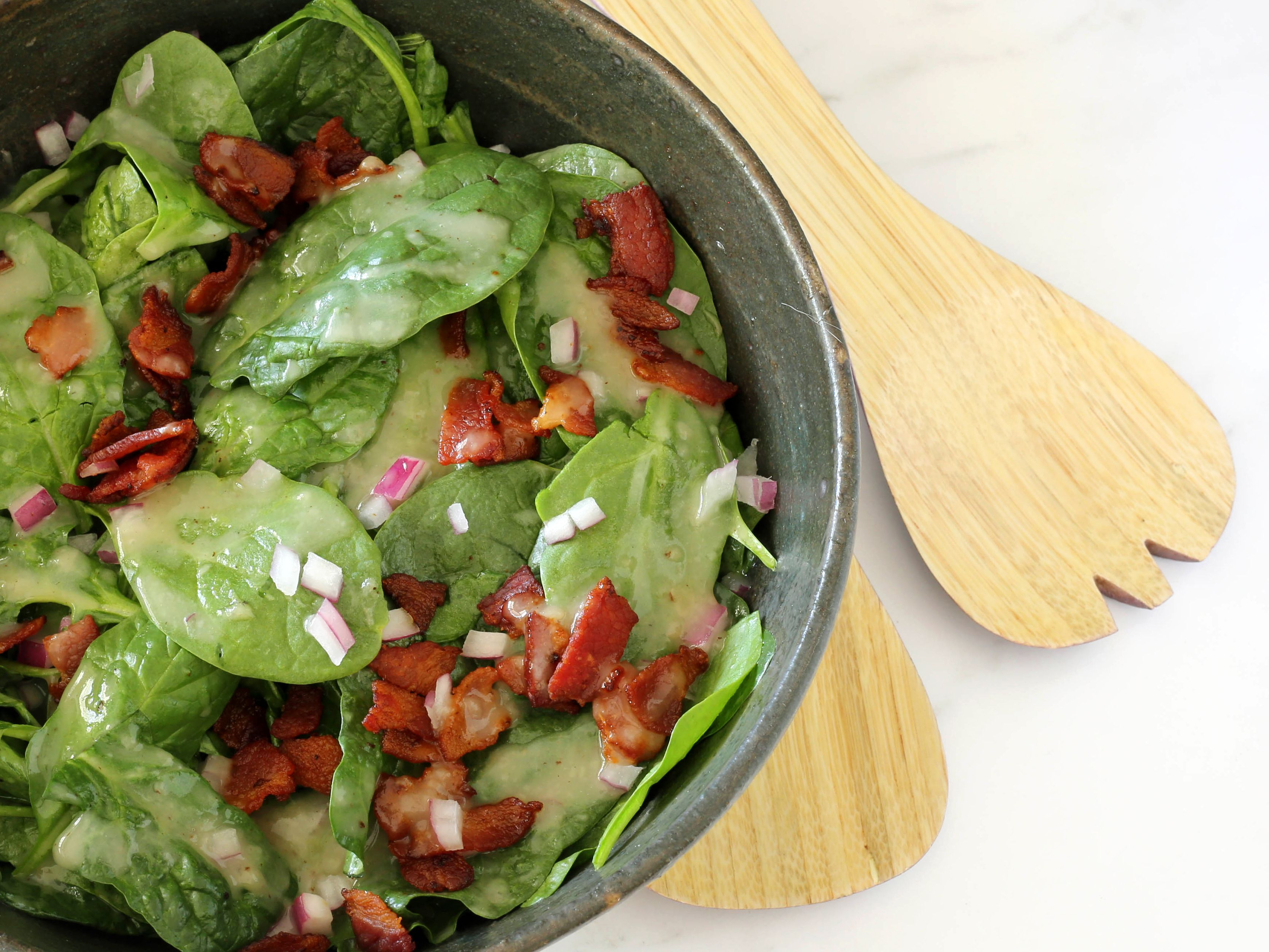 Wilted Spinach With Bacon Recipe