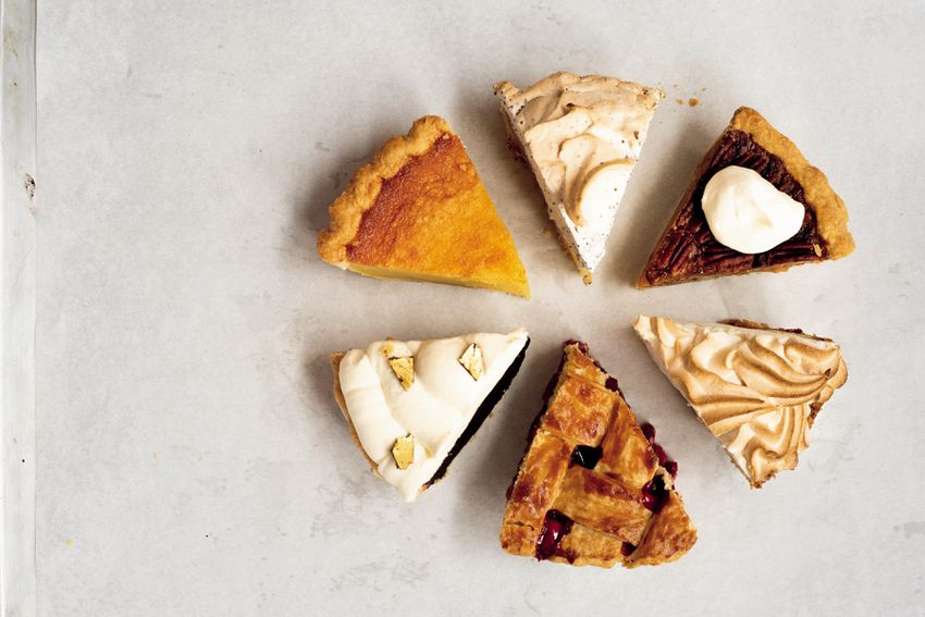 variety of pie slices from Petee's Pies in New York City
