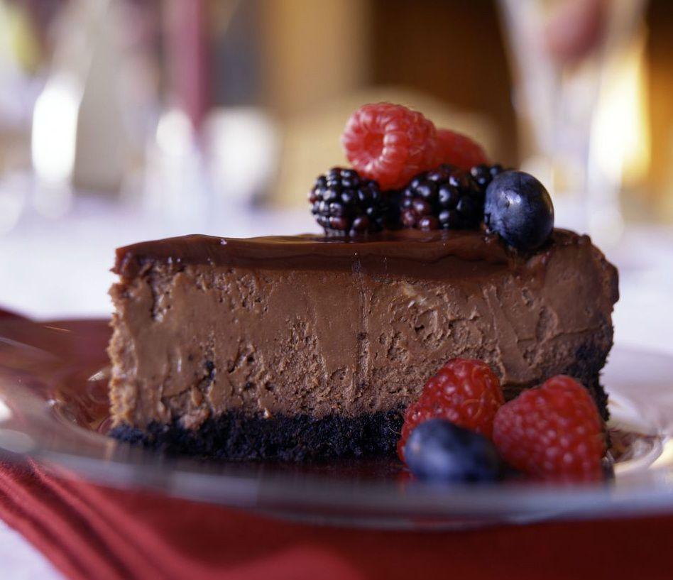 Gluten Free No-Bake Irish Cream Chocolate Cheesecake