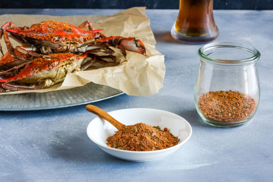 Old Bay-style seasoning mix with crabs