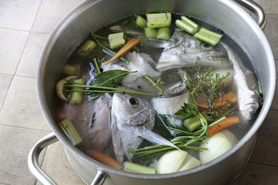 Homemade fish stock