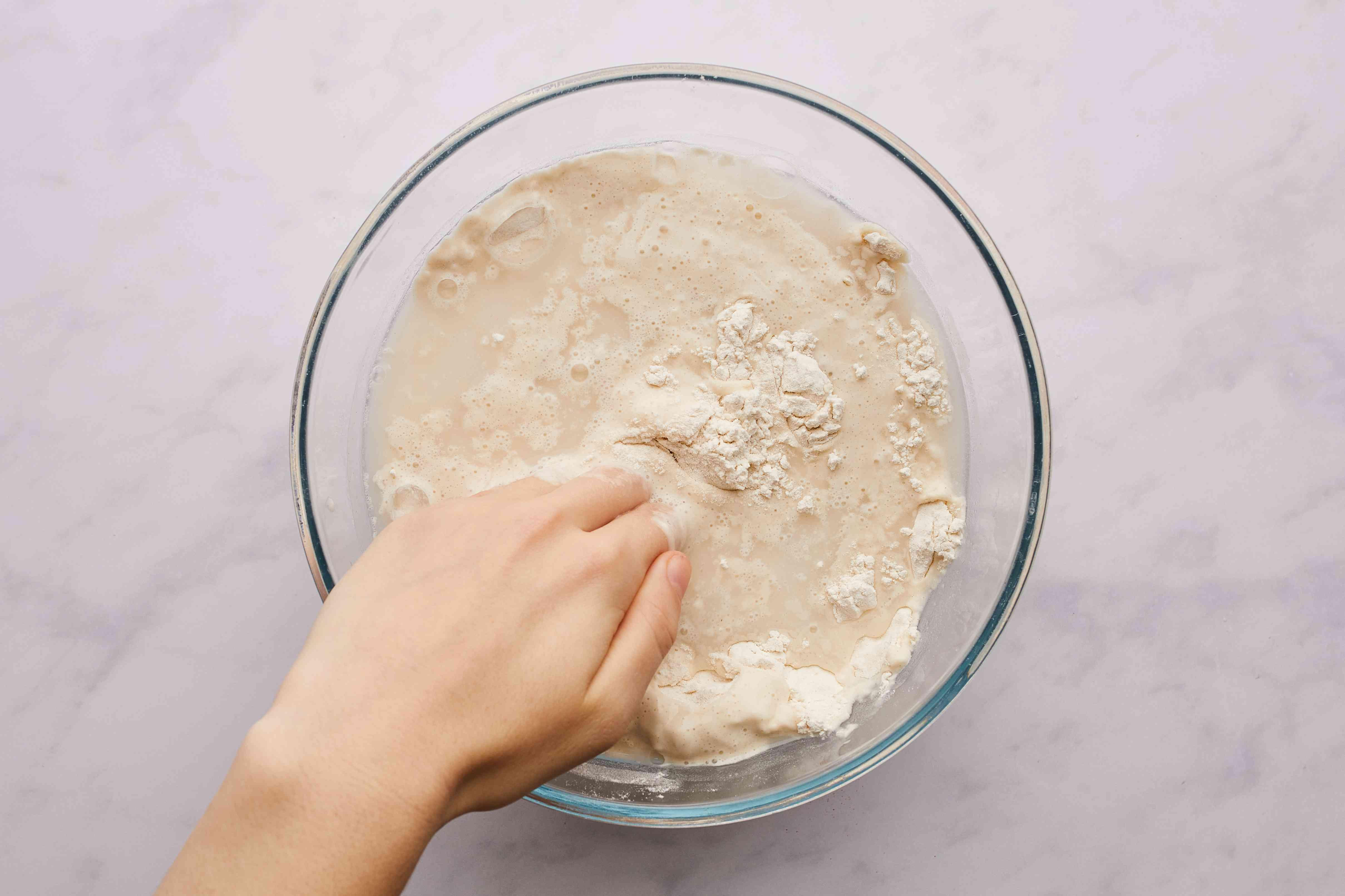 mix ingredients in large bowl