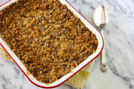 Easy Sweet Potato Casserole With Pecan Streusel Topping