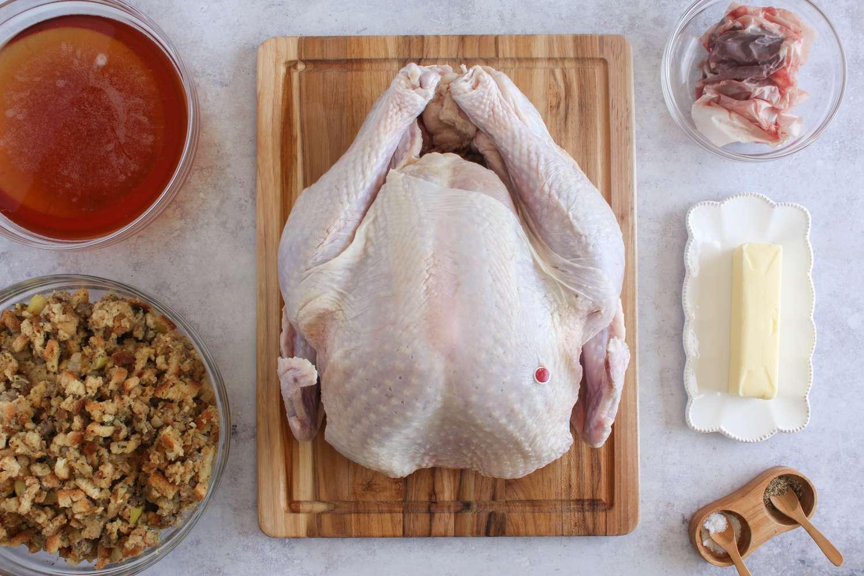 Ingredients for beer basted turkey