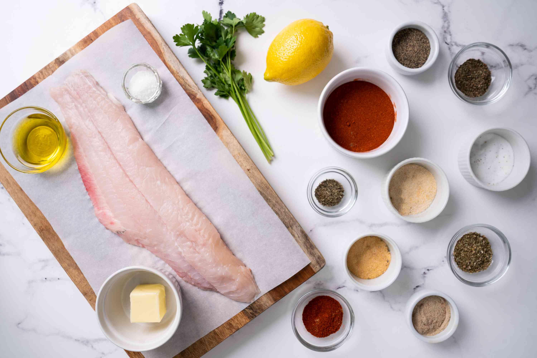 Blackened Catfish ingredients