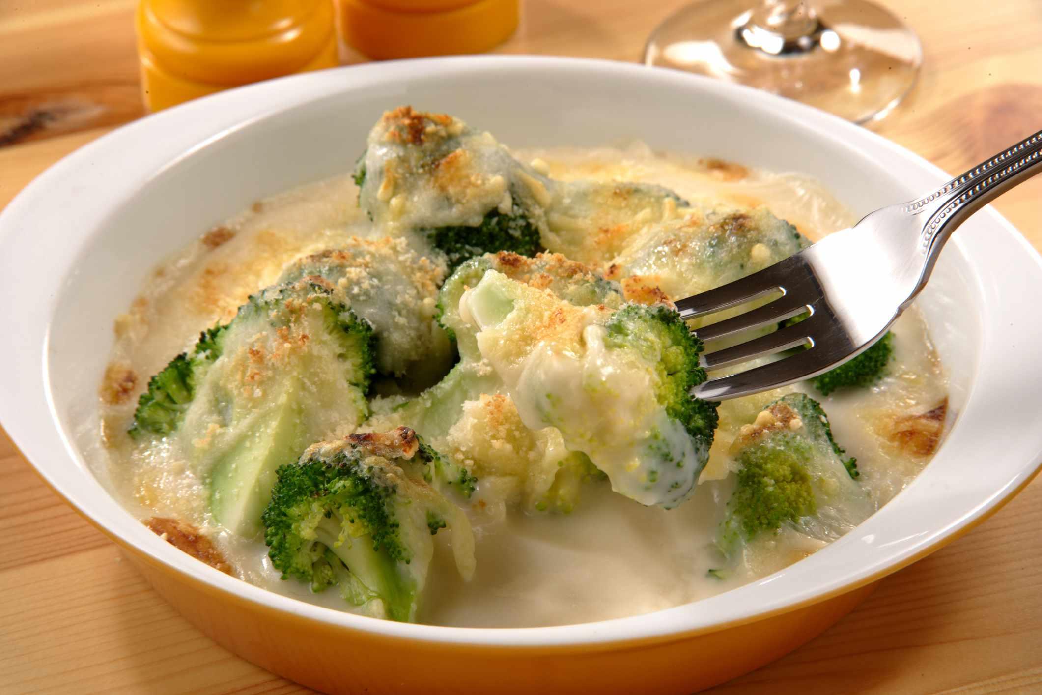 Traditional French Broccoli Gratin