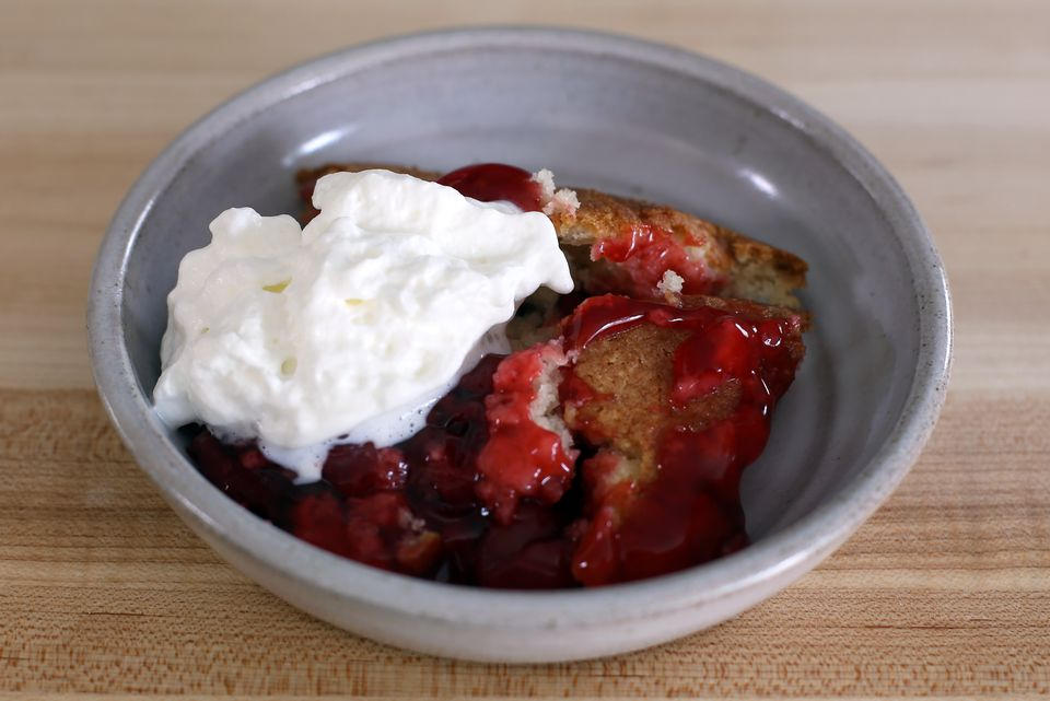 Cherry Cobbler in a bowl