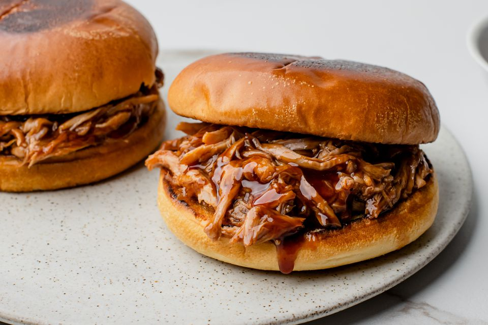 Slow cooker barbecued Boston butt recipe