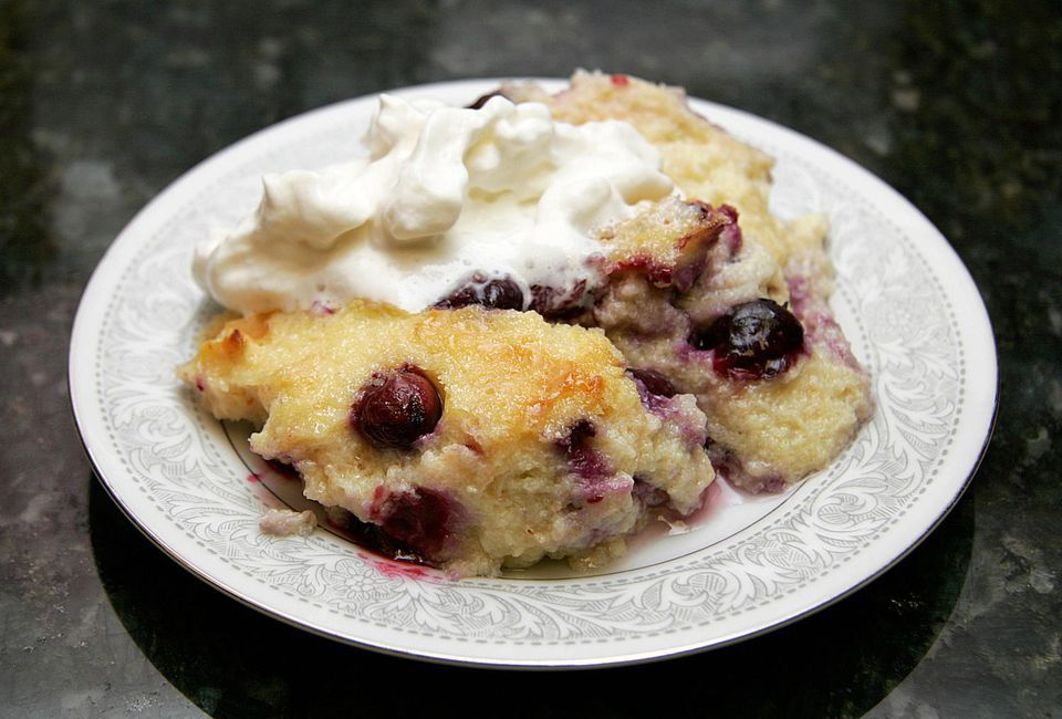 berried bread pudding