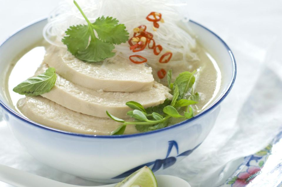 Poached Chicken in coconut soup