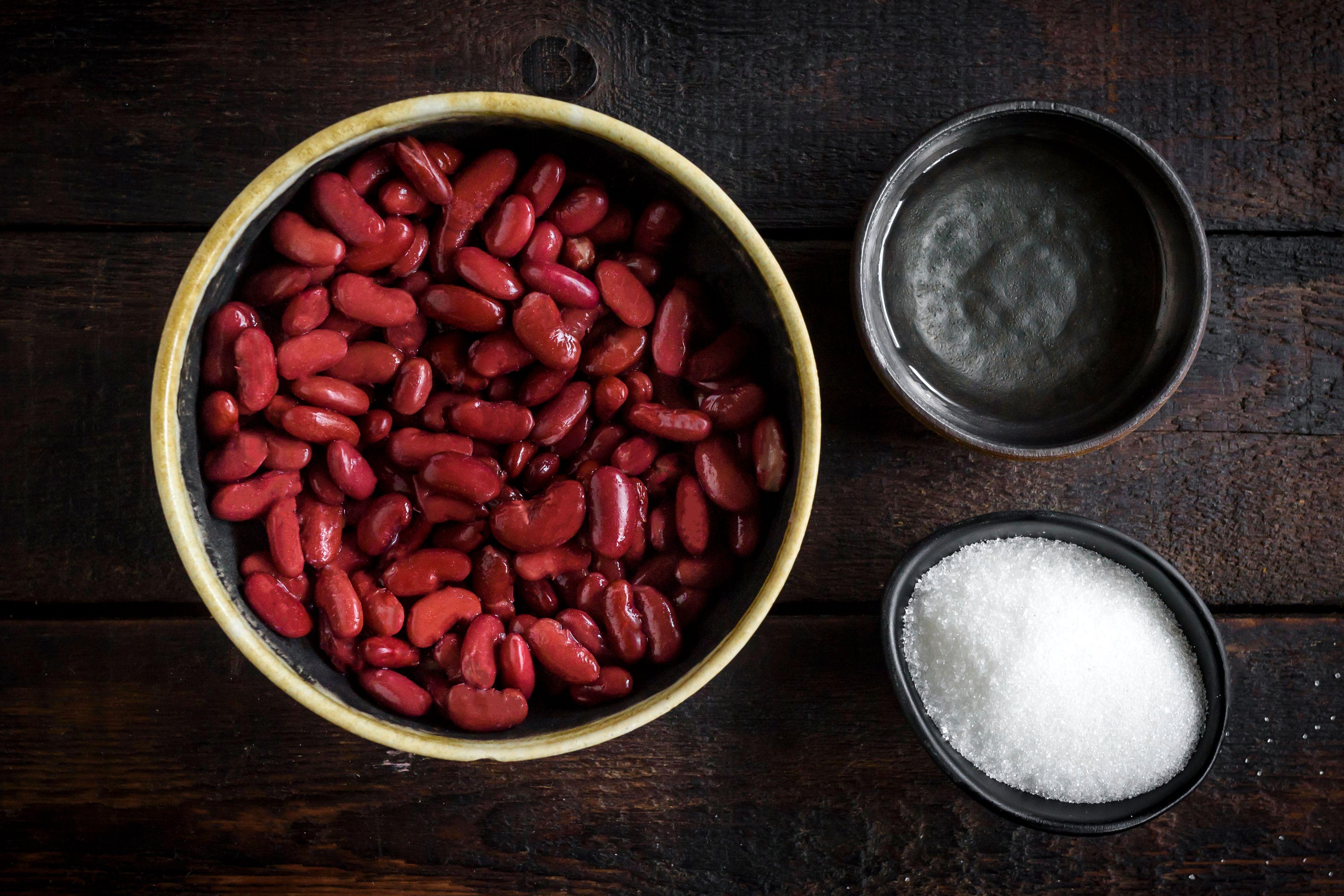 Sweet red bean paste recipe ingredients