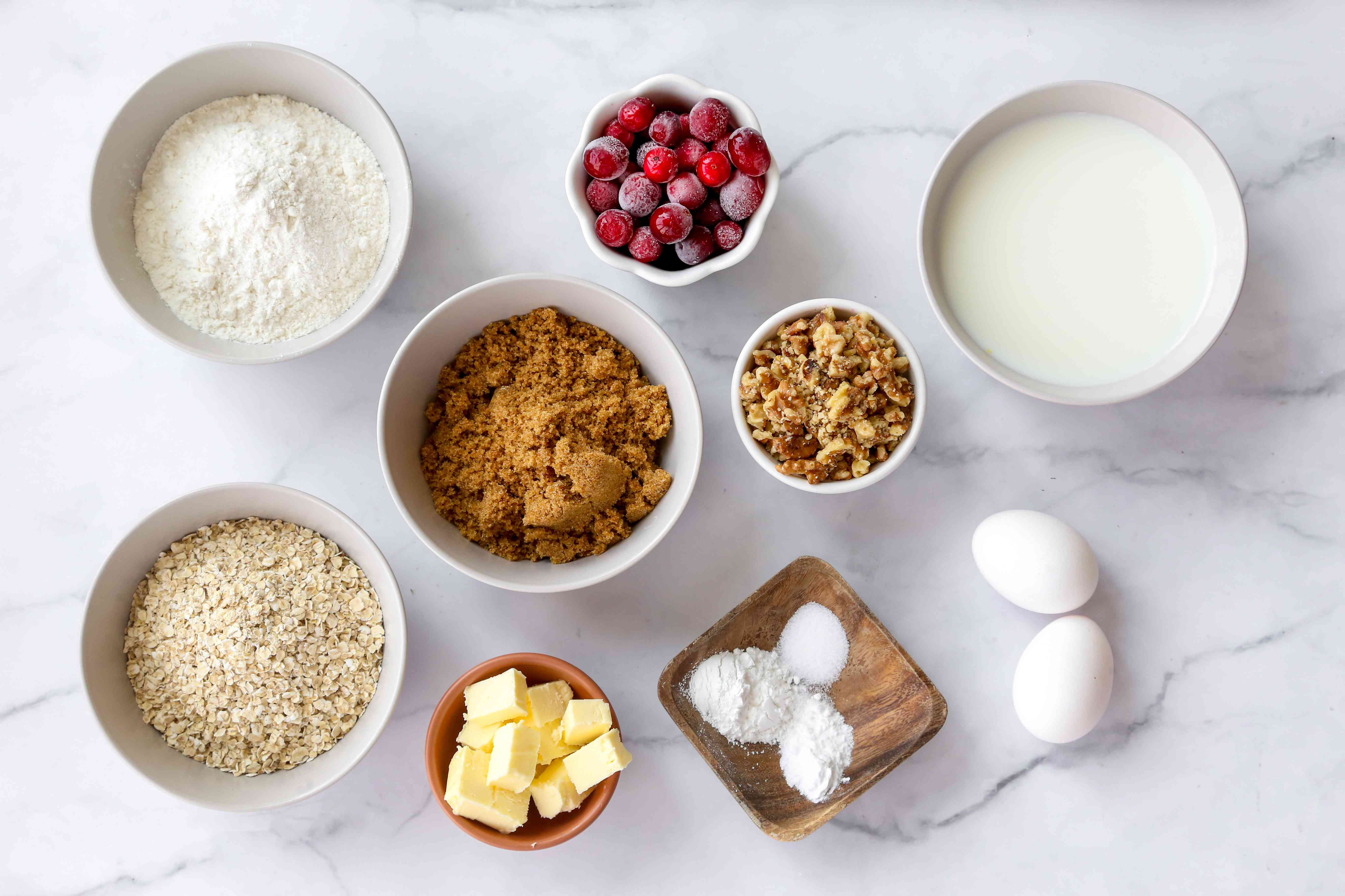 Cranberry Oatmeal Muffins ingredients