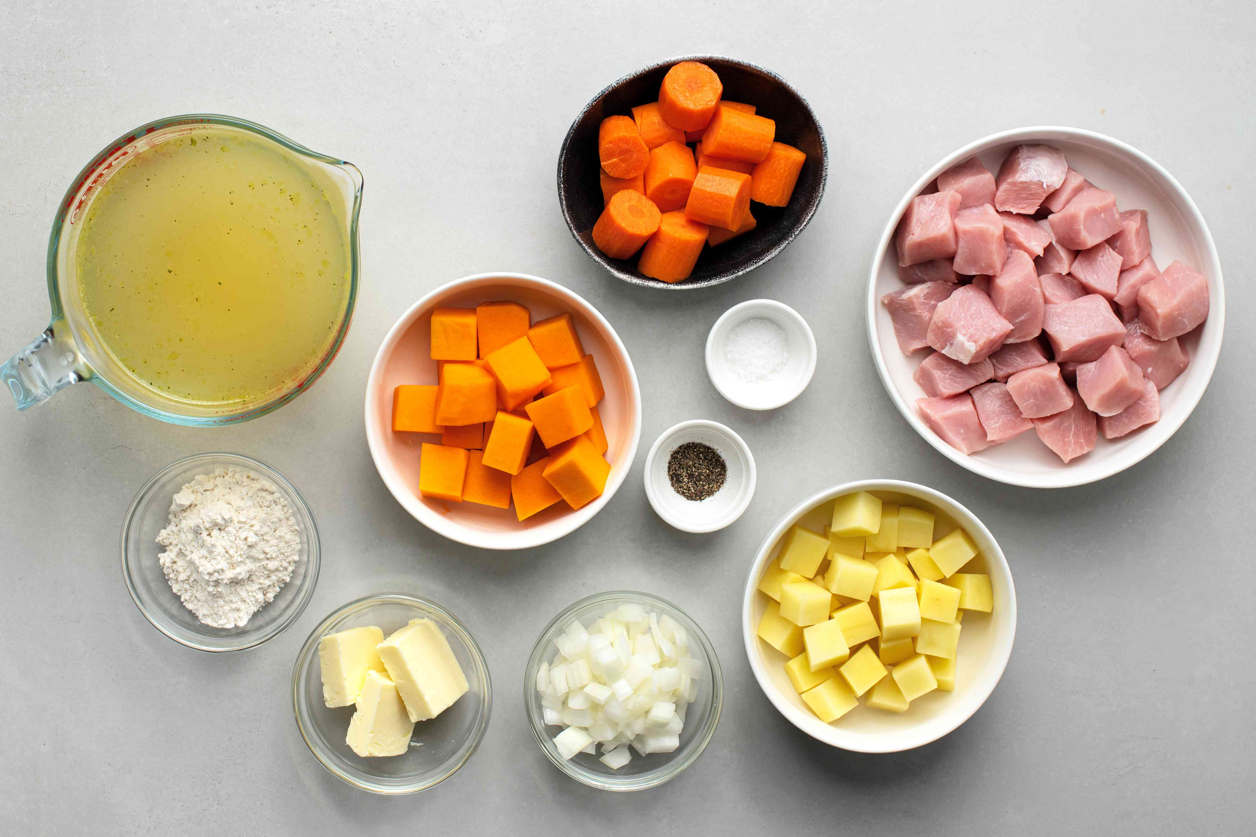 Slow Cooker Cubed Pork Stew ingredients