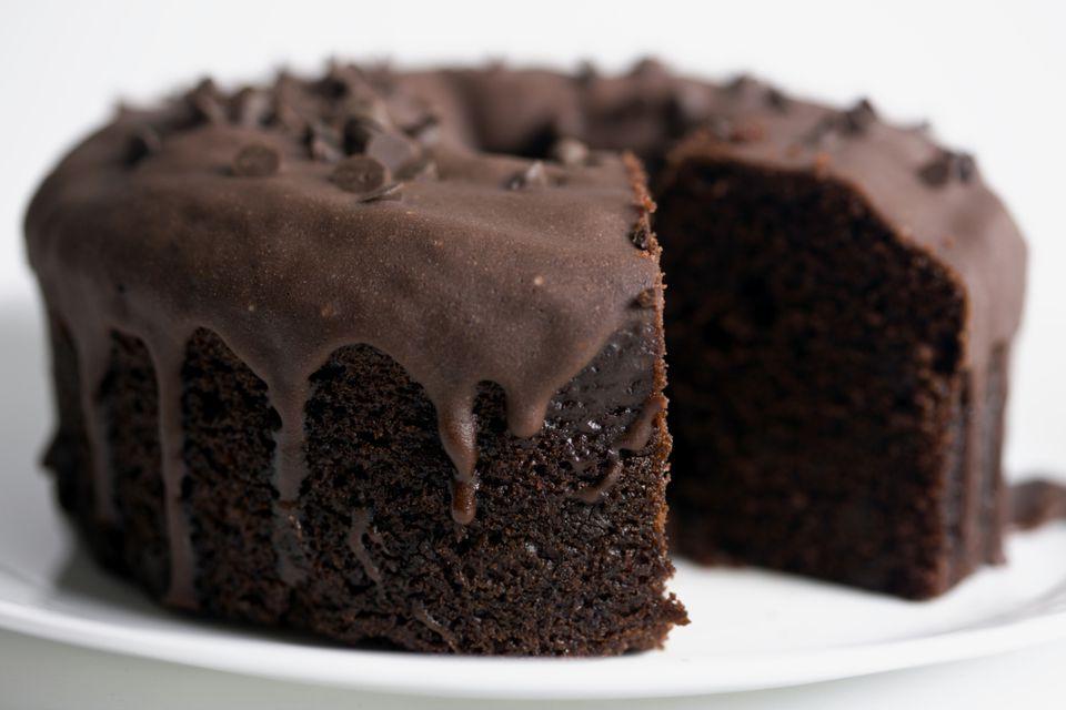 Torta Bundt de chocolate sin lácteos