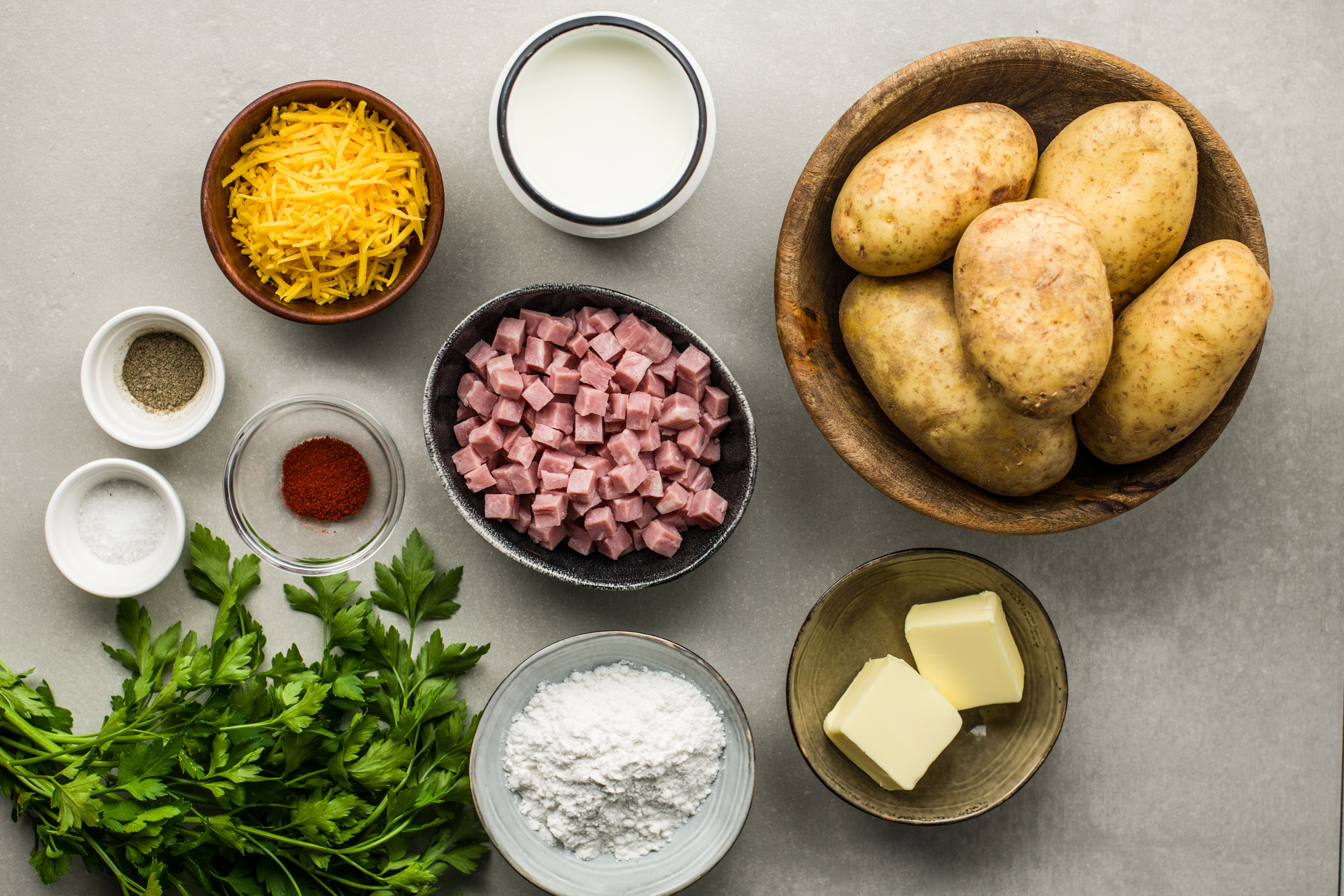 Ingredients for gluten-free scalloped potatoes