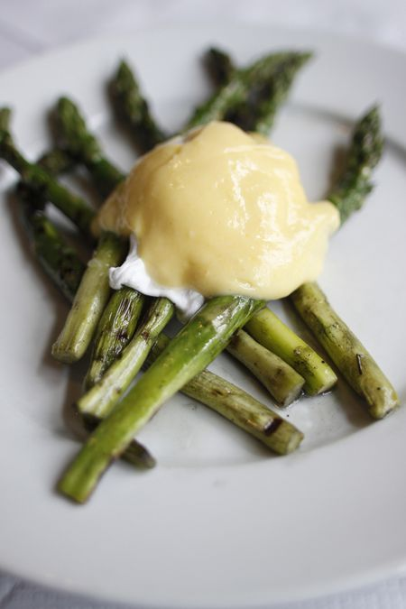 Asparagus With Poached Eggs And Hollandaise Recipe