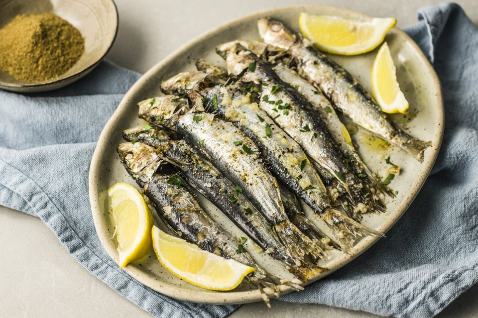 Moroccan baked sardines