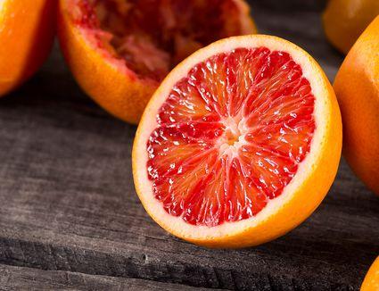 Half of a blood orange