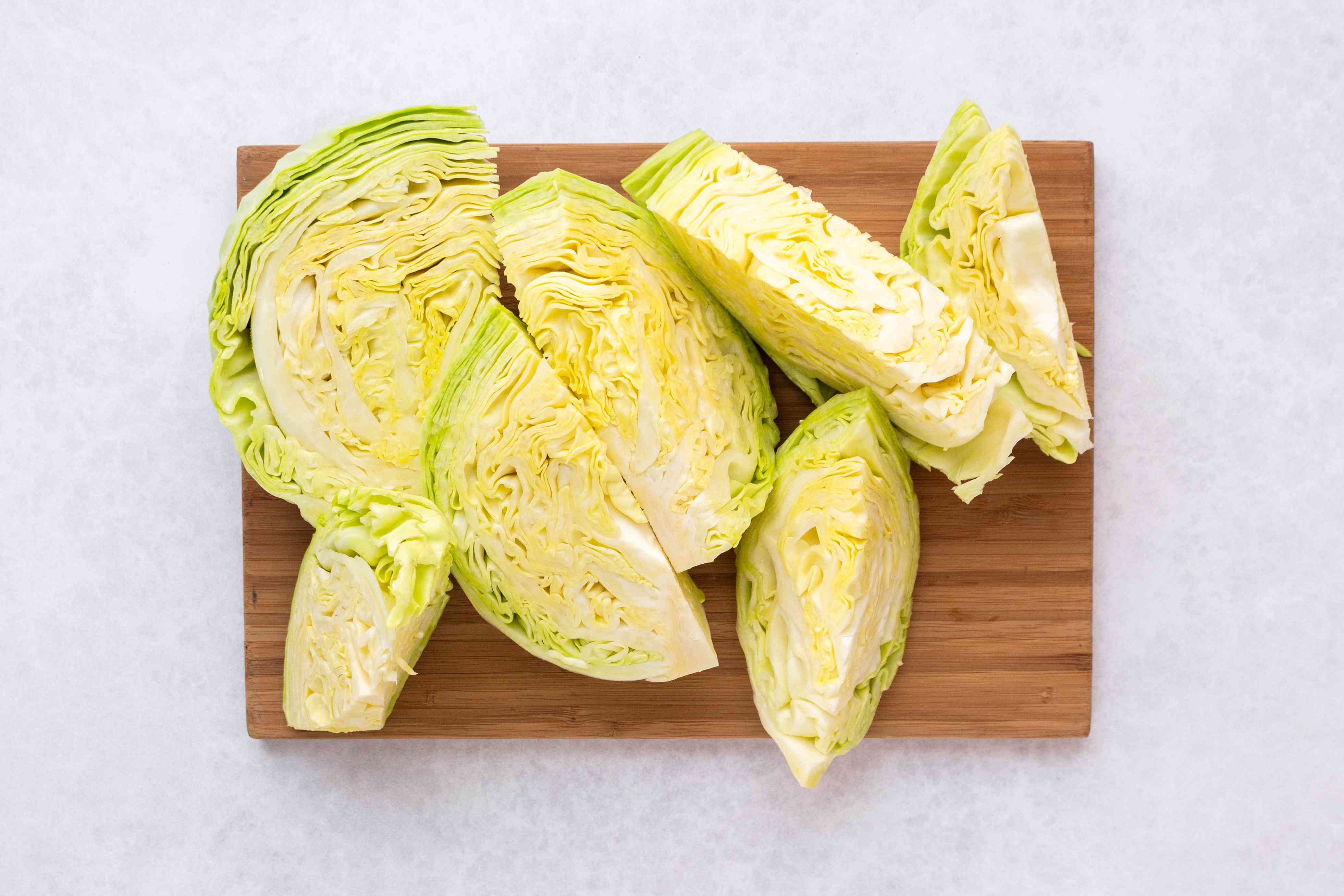 cabbage on a cutting board
