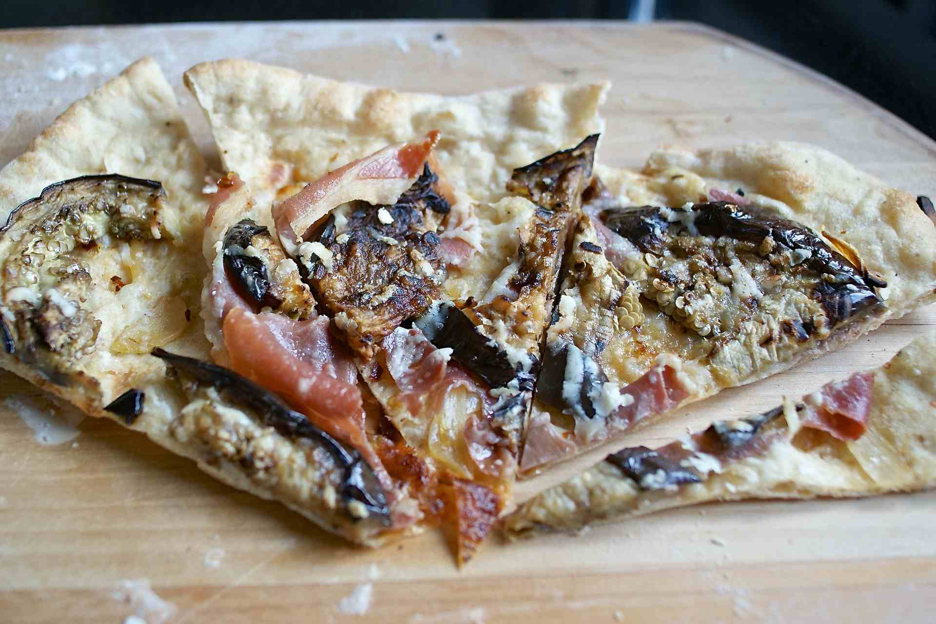 Homemade Eggplant Pizza