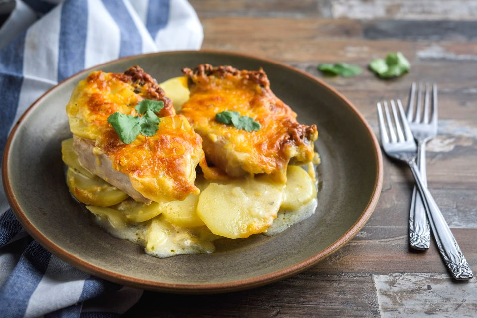 Easy pork chop and potato casserole